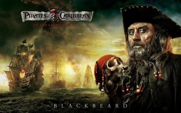 Blackbeard as portrayed by Ian McShane in 'Pirates of the Caribbean: On Stranger Tides'