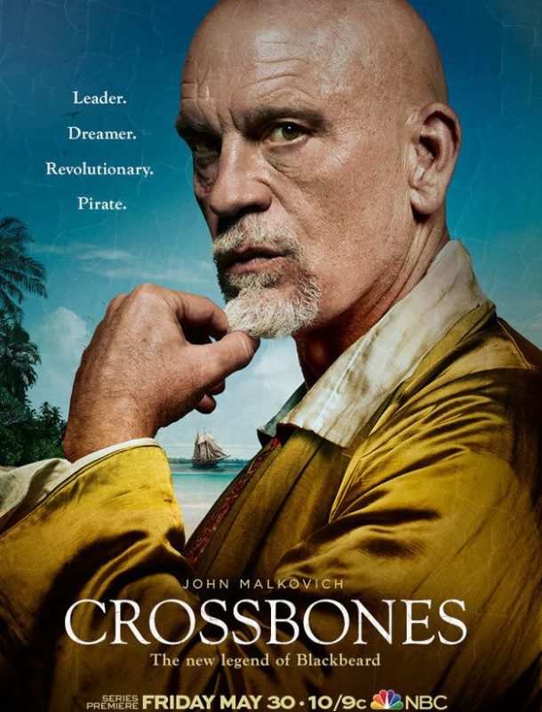 John Malkovich is the pirate Blackbeard in NBC's 'Crossbones'.