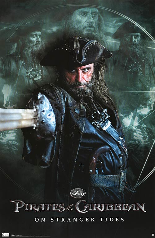 who played blackbeard in pirates of the caribbean