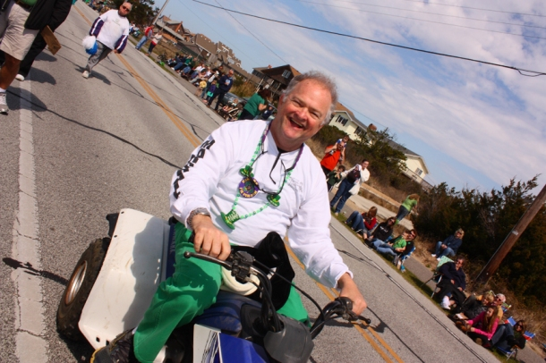 Mike Kelly leads the annual Kelly's St. Patrick's Day Parade.