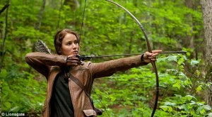 Jennifer Lawrence on the North Carolina set of 'The Hunger Games'