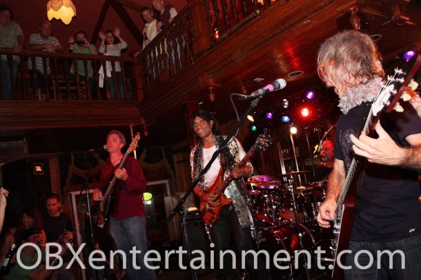 Stanley Jordan on stage with TR3 featuring Tim Reynolds on March 24, 2012 in Kill Devil Hills.