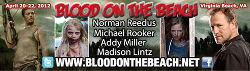 The Walking Dead cast members will be at Blood on the Beach
