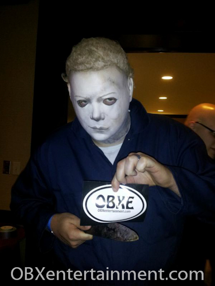 When he's not trick-or-treating on Halloween, even the boogeyman MICHAEL MYERS reads OBX Entertainment!