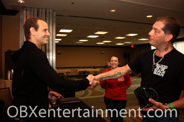 Legendary actor MICHAEL BIEHN met hundreds of fans at Blood on the Beach, including Patrick Stuhmer.