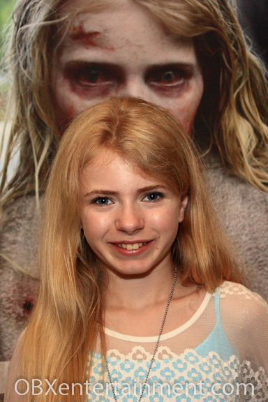 NC actress Addy Miller of 'The Walking Dead' was among over 40 celebrity guests at the innaugural 'Blood on the Beach' Convention.