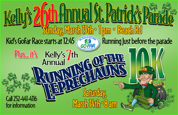 Kelly's 26th Annual St Patrick's Parade - March 15, 2015