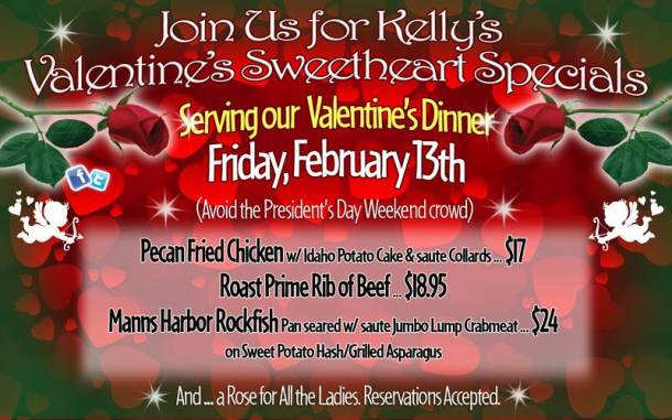 Valentine's Day Friday the 13th dinner at Kelly's
