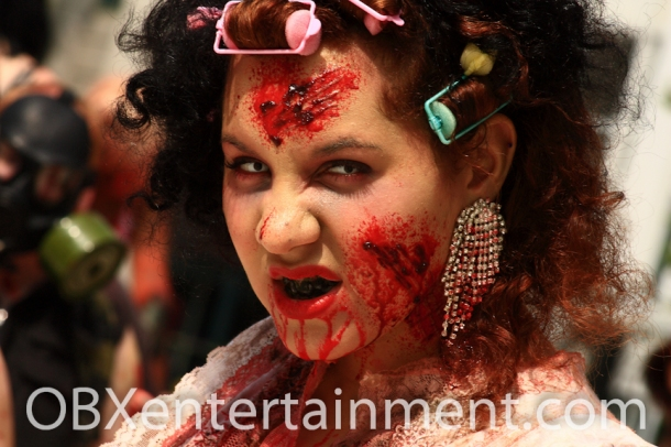 The Zombie Walk kicked off the first ever Blood on the Beach Horror Convention.