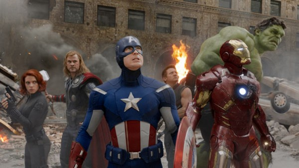 'The Avengers' features the superhero dream team of Black Widow, Thor, Captain America, Hawkeye, Iron Man, The Incredible Hulk.