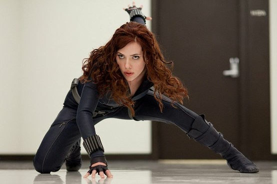 Scarlett Johansson stars as Black Widow in 'The Avengers'.