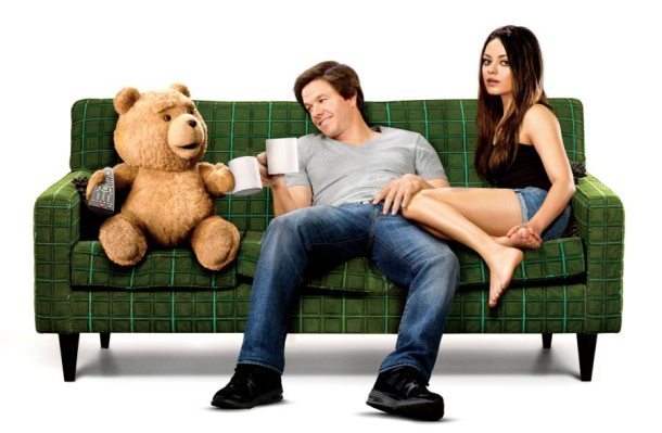 'Ted' stars Seth Macfarlane, March Wahlberg, and Mila Kunis.