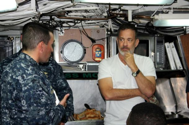 Tom Hanks recently toured Naval Station Norfolk while filming 'Captain Phillips' in the area. (photo: Naval Station Norfolk)