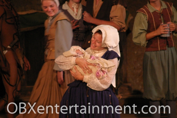 "Ozzie Artz of Kill Devil Hills starred as ""Baby Virginia Dare"" in the christening scene in 'The Lost Colony' on August 18, 2007. (photo: Artz Music & Photography)"