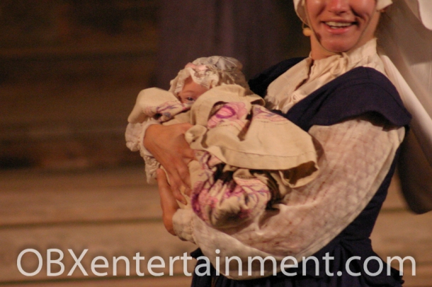 "Three-month-old Ozzie Artz of Kill Devil Hills starred as ""Baby Virginia Dare"" in the christening scene in 'The Lost Colony' on August 18, 2007. (photo: Artz Music & Photography)"