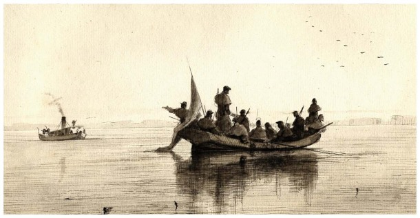 Pen and Ink by Edwin Graves Champney. Image courtesy of the Outer Banks History Center.