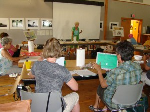 Outer Banks artist Carol Trotman will host a watercolor workshop for '2nd Saturday' at Roanoke Island Festival Park on August 11, 2012.