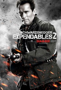 Arnold Schwarzenegger is back in 'The Expendables 2'.