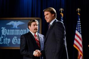 Wilksboro, NC native Zach Galifianakis stars with Will Ferrell as two North Carolina politicians competing for office in 'The Campaign'.