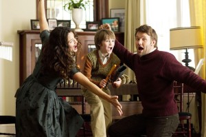 Jennifer Garner, CJ Adams, and Joel Edgerton star in 'The Odd Life of Timothy Green'.