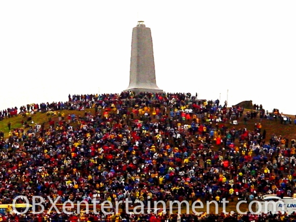 Wright National Monument on December 17, 2003 - the 100th Anniversary of the First Flight. (photo: Artz Music & Photography)