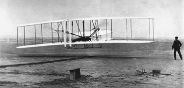 The Wright Brothers took off into history on December 17, 1903 in Kill Devil Hills, NC.
