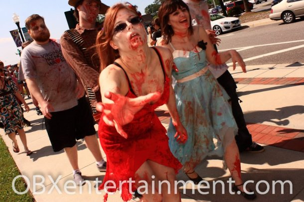 The Blood at the Beach Zombie Walk, shot by Artz Music & Photography on April 20, 2012 in Virginia Beach, VA.