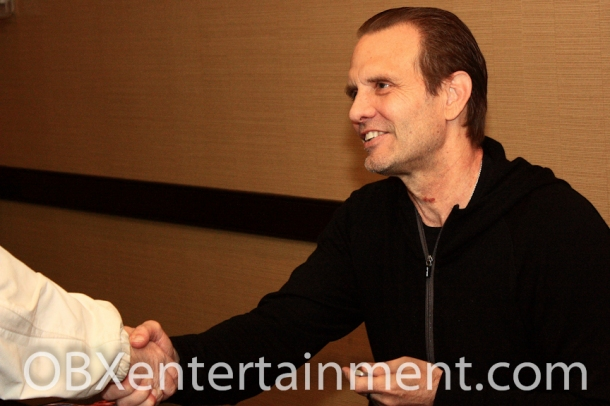 "Legendary actor Michael Biehn was all smiles meeting hundreds of fans at the first ever ""Blood at the Beach"" Horror Convention in VA Beach in April 2012. (photo: Artz Music & Photography)"