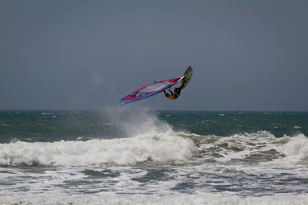 Hatteras Wave Jam will bring the world's best windsurfers to Avon, NC September 12-15, 2012. (photo: American Windurfing Tour)