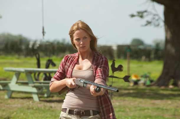 Emily Blunt takes aim in 'Looper'.