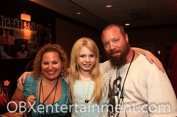 Addy Miller (center) with OBXentertainment.com founders Sue and Matt Artz on April 22, 2012 in Virginia Beach, VA.