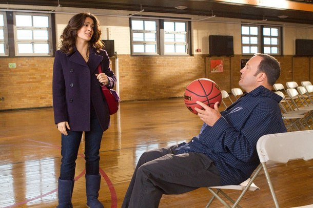 Salma Hayek and Kevin James star in 'Here Comes the Boom'.