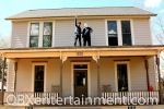 The Myers House NC owner Kenny Caperton and Michael Myers (OBXentertainment.com Editor in Chief Matt Artz) enjoy the view from atop a life size replica of Michael Myers' house from John Carpenter's 'Halloween'. (photo: Artz Music & Photography)