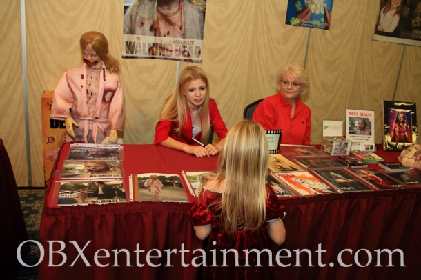 NC actress Addy Miller ('The Walking Dead') inspires the next generation of zombies.