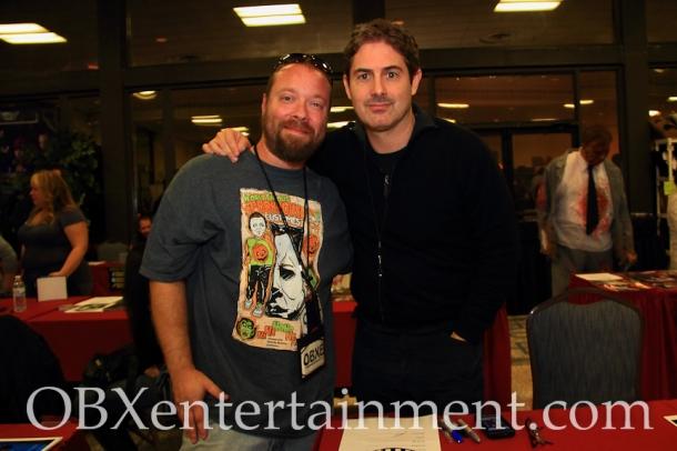 OBXentertainment.com Editor in Chief Matt Artz with Zach Galligan ('Gremlins', 'Hatchet III')