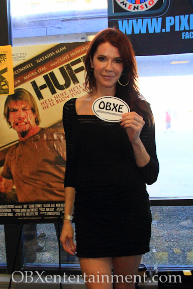 Actress Elina Madison shows off her new OBXentertainment.com decal!