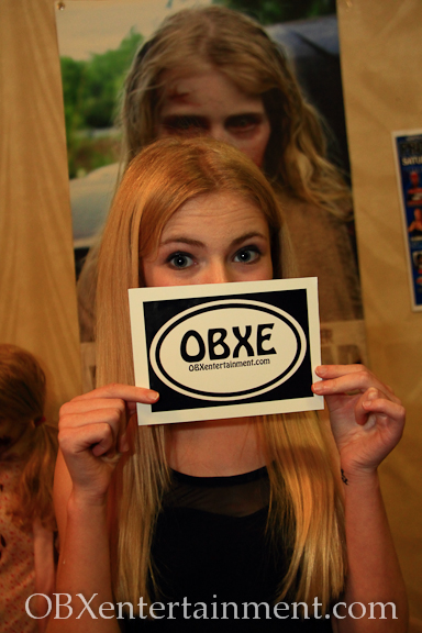 NC actress Addy Miller ('The Walking Dead') rocks her new OBXentertainment.com decal!