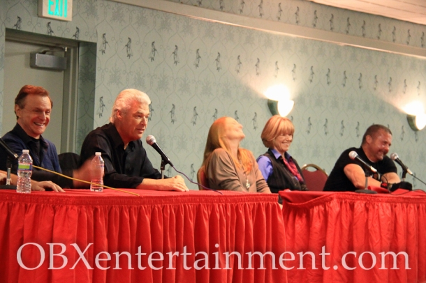 Ron Millkie, Steve Dash, Amy Steel, Adrienne King, and Kane Hodder at the 'Friday the 13th' panel at Blood at the Beach, Nov. 11, 2012 in Virginia Beach. (photo: OBXentertainment.com)