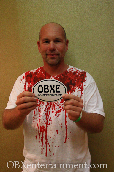 Capt. Tim of Outer Banks Fishing Charters shows off his new OBXentertainment.com decal!