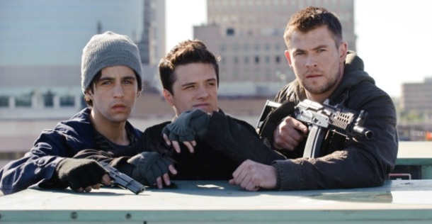 Josh Peck, Josh Hutcherson, and Chris Hemsworth star in 'Red Dawn'.