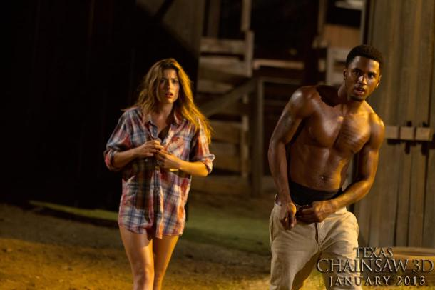 Tania Raymonde and Petersburg, VA native Trey Songz star in 'Texas Chainsaw 3D'.