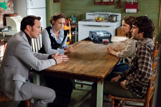 Partrick Wilson, Vera Farmiga, Lili Taylor, and Ron Livingston on the WIlmington, NC set of 'The Conjuring'.