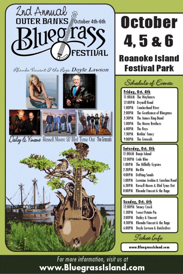 Outer Banks Bluegrass Festival 2013 -poster