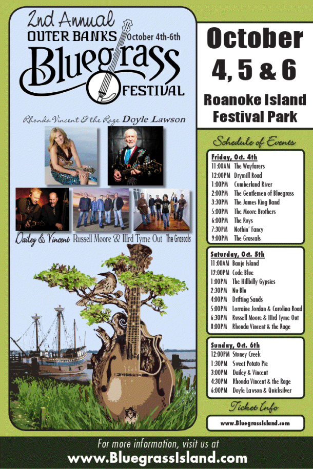 Outer Banks Bluegrass Festival 2013 -poster
