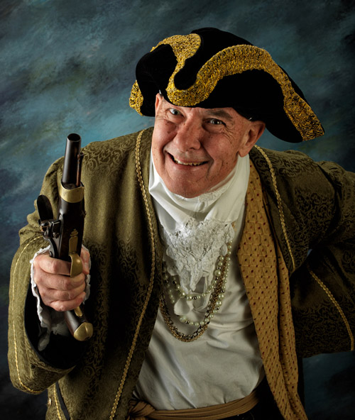 Captain Darby, the Outer Banks Irish Pirate.