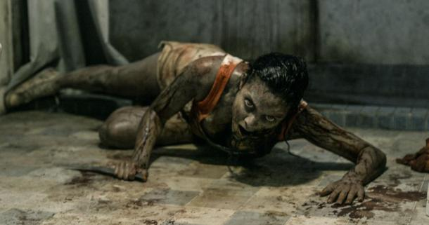 Jessica Lucas is out for blood in 'Evil Dead'.