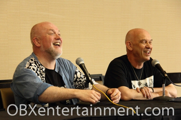 'Hellraiser' stars Nicholas Vince (Chatterer) and Doug Bradley (Pinhead) at Blood at the Beach III in Virginia Beach, VA, May 11, 2013.