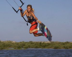 Pro kiteboarder Colleen Carroll flies to Waves on Hatteras Island for the 2013 Real Triple-S Invitational.