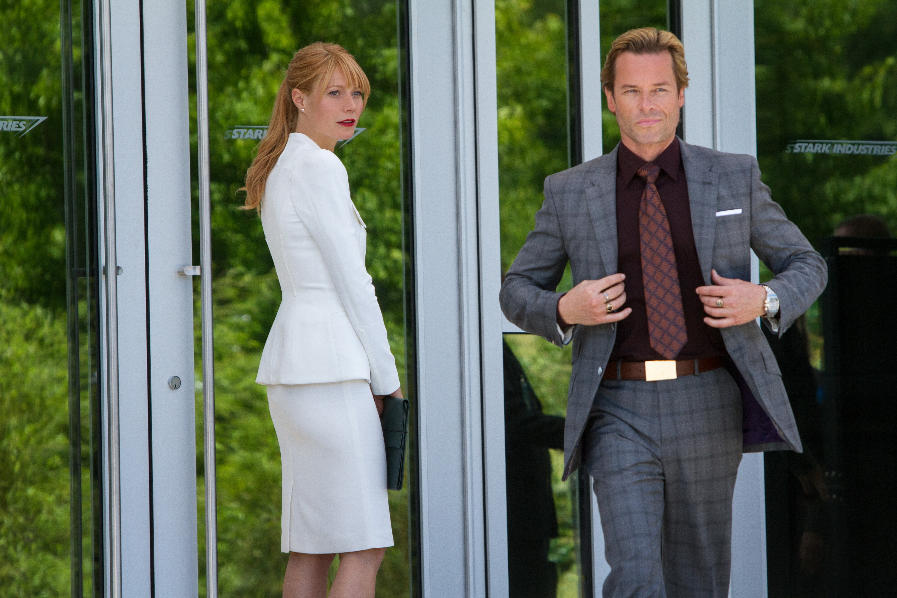 Gwyneth Paltrow and Guy Pearce star in 'Iron Man 3'.