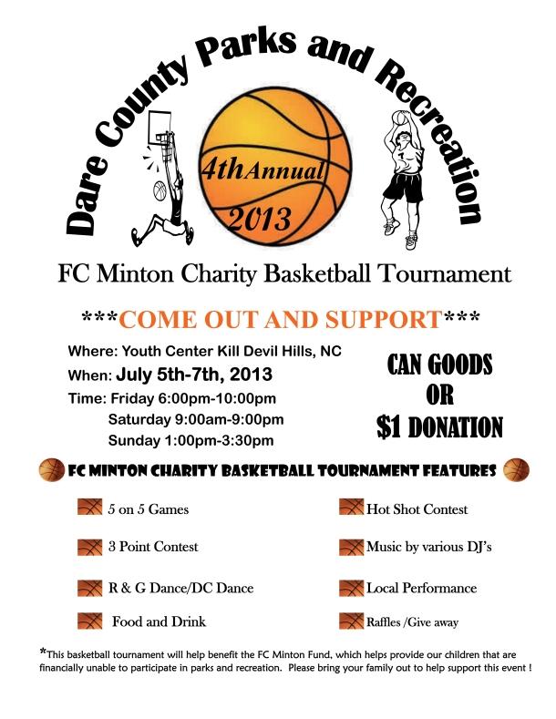 Charity basketball tournament returns to kill devil hills for Basketball tournament program template
